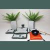 Altar budista verde oscuro+gong chico