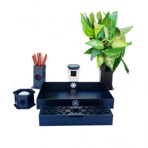 Altar budista Soka negro simple completo