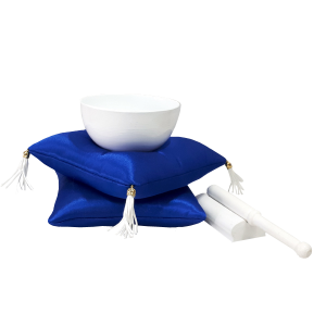 Gong budista mediano sobre almohadilla doble